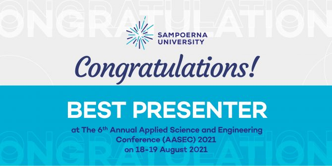 Five Mechanical Engineering Students Won the Best Presenter Awards in the 6th Annual Applied Science & Engineering Conference (AASEC) 2021